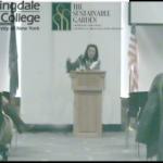 Lynn Mehl speaking on green floristy