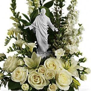 sflowers and jesus madonna