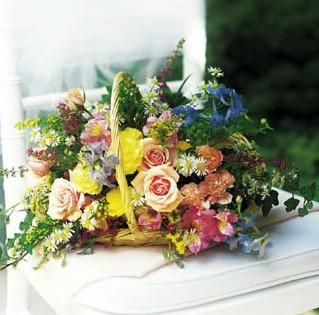 art deco style flower basket