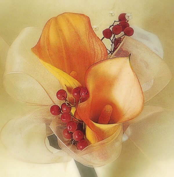 corsage calla lilies