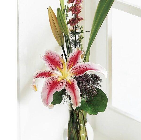 elegant lily budvase