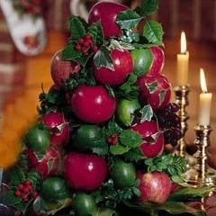 apple tree cone centerpiece