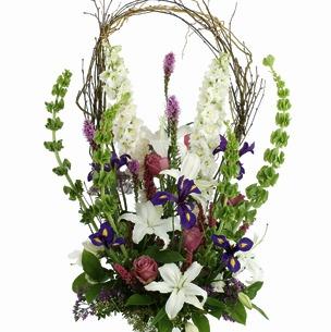 sympathy garden basket