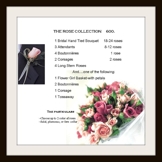 rose wedding package