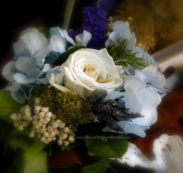 sympathy tussie mussie bouquet
