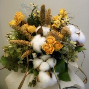 dried flower bouquet cotton