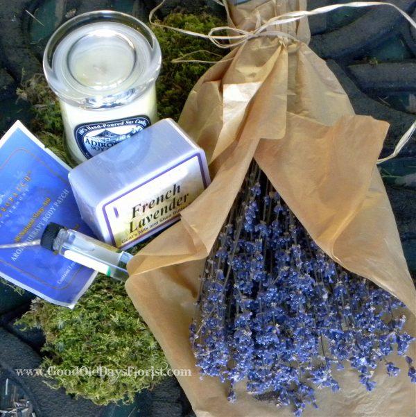 lavender aromatherapy gift basket set